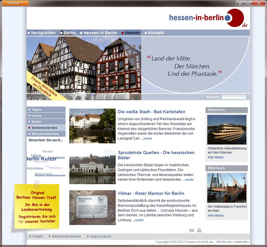 hessen-in-berlin.de | Internetauftritt 2008 - 2013